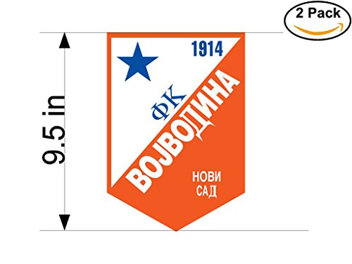 fan products of Vojvodina Yugoslavia Soccer Football Club FC 2 Stickers Car Bumper Window Sticker Decal Huge 9.5 inches