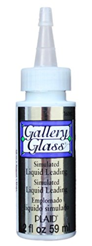 Accessories Glass Gallery (Gallery Glass 16080N Plaid  Window Color Liquid Leading for Lines (2-Ounce), Silver Metallic)