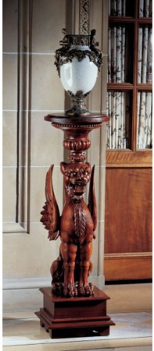 (18th Century Antique Replica Hand Carved Pedestal Stand)