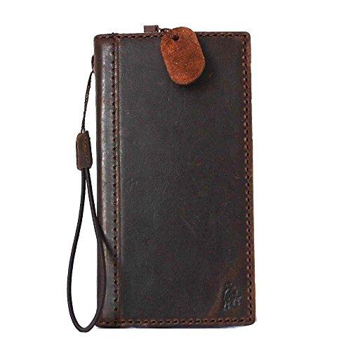 Genuine Italian Leather Case for Samsung Galaxy S5 Active Book Pro Wallet Handmade cover brown slim Retro cards slots slim daviscase