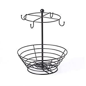 Nifty Solutions 8830 Storage Basket Coffee Cup Carousel, One Size, Black