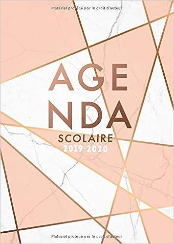 Agenda Scolaire 2019 - 2020: Agenda de Août 2019 à Août 2020 ...