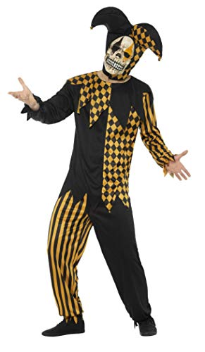 Evil Court Jester Adult Costume Gold - Small