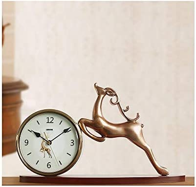 KEHUITONG 時計、シンプル時計、サイレントホームリビングルームの時計、クリエイティブ装飾品、装飾時計、金属製時計、小、大 (Size : Large)