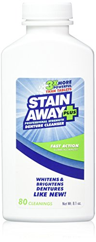 Stain Away Plus Denture Cleanser 8.1 oz bottle (Pack of 2)