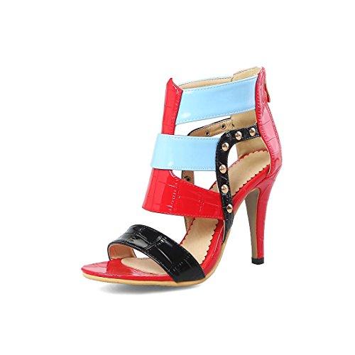 tacco i sandali sandali sandali vuoto sandali alto signore sexy color signore FTfqwxf