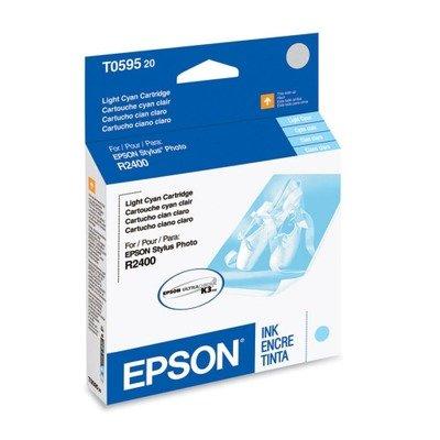 NEW EPSON OEM INKJET INK FOR STYLUS R2400-1 STANDARD LT CYAN ULTRA INK (Printing ()