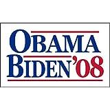 "Official Obama//Biden 2008 Presidential Campaign Bumper Sticker 7 1//2"" X 4"" MINT"