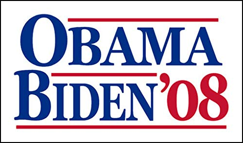 - American Vinyl Vintage Obama Biden '08 Sticker (Election Political Logo 2008)