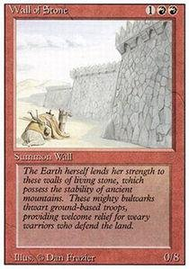 Magic: the Gathering - Wall of Stone - Revised Edition (Tal Fai)