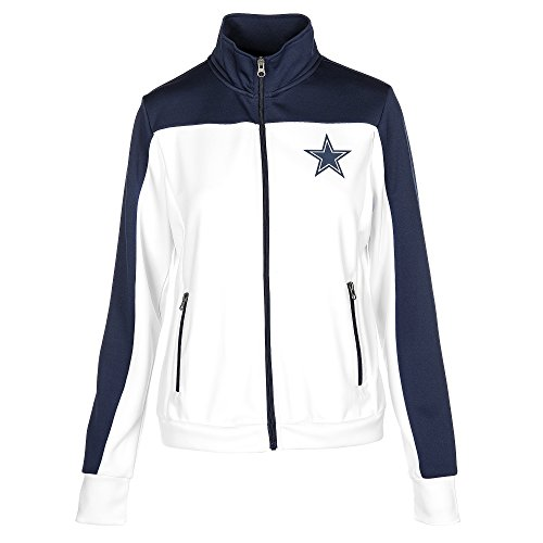Dallas Cowboys Women's White Play Maker Full-Zip Track Jacket By G-III (Dallas Cowboys Track Jacket)