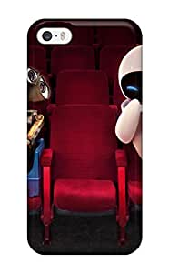 New Premium Flip Case Cover Wall E And Eve In Theater Skin Case For Iphone 5/5s 5723953K11508975