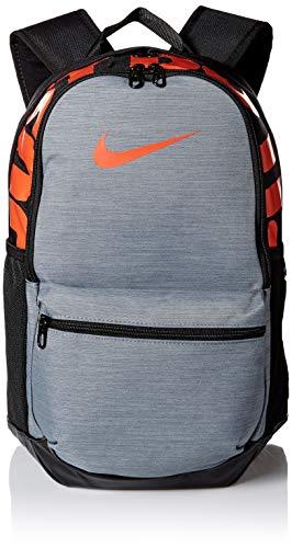 NIKE Brasilia Medium Backpack, Black/Cool Grey/Habanero Red, Misc