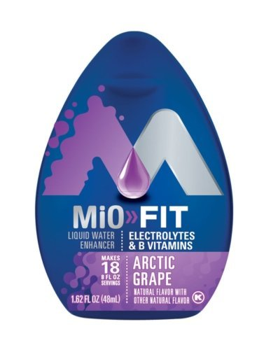 MiO Fit Water Enhancer – Arctic Grape, makes 18 servings Vitamins, 1.62 oz each, Pack of 5