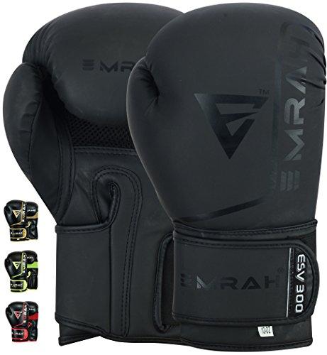 EMRAH ESV-300 Boxing Gloves Muay Thai Training DX Hide Leather Sparring...