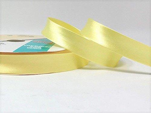 Jaune citron Byetsa satin/é Fold 18/mm Biais sur un rouleau de 25/m