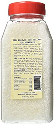 Sea Minerals Bath Salts From The Dead Sea, 2 Pound