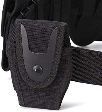 Liuzecai Ledergürtel Outdoor Load Verschleißfester praktischer Gürtel Sieben-teiliges Set Herren Gürtel