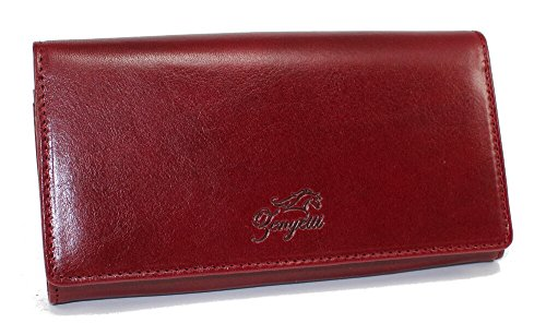 Italian Zenyetti Medium Burgundy Clutch Fashioned Premium as a Wallet Leather Handcrafted Womens rEzEAwHq