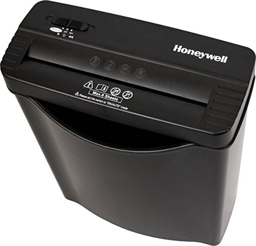 Honeywell Safes & Door Locks - 9306F 6 Sheet Strip-Cut Paper Shredder, Black