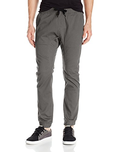 Southpole Men's Basic Stretch Twill Jogger Pants, Dark Grey, Large by Southpole