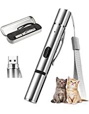 Cat Toy, AMAMIA Light Pointer for Cats, Rechargeable USB LED Light Projection Various Patterns, Interactive Training Chaser Tease Stick for Indoor Cats