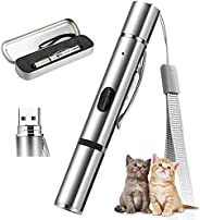 Cat Toy, AMAMIA Light Pointer for Cats, Rechargeable USB LED Light Projection Various Patterns, Interactive Tr