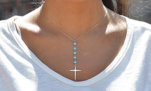Buy sterling silver turquoise cross pendant