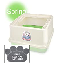 CATIDEA CL7 Green Luxury Sifting Top Entry Cat Litter Box