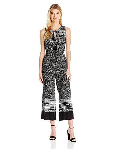 MINKPINK Women's Aurora Printed Jumpsuit, Black/White, X-Small 41yDlfjjfBL