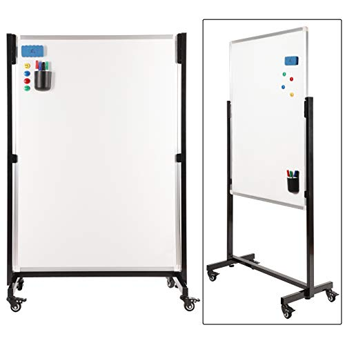 (Mobile Whiteboard with Stand - 46 x 32