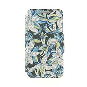 Mini - Kinston Multicolor Flower Leaf Diamond Paste Pattern PU Leather Cover for iPhone 6