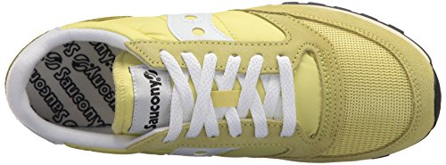 Saucony Original Vintage Jazz Femme Jaune Baskets 24 White Yellow r4vrxqn