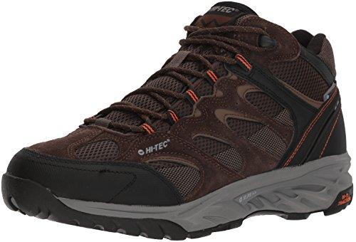 Hi-Tec Men's V-LITE Wild-FIRE MID I Waterproof Hiking Boot, Chocolate/Burnt Orange, 105M Medium US