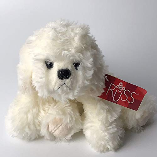 (Russ Berrie Muffin Jr Plush Animal Puppy Dog Bear Bichon Frise 6