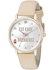 kate spade new york Womens 1YRU0892 Metro Analog Display Japanese Quartz Beige Watch