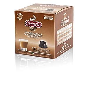 Caffè Carraro, selezione Cortado Carraro, Compatibili Dolce Gusto, 6 Astucci da 16 Capsule: 96 Capsule