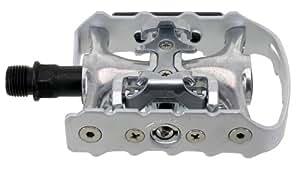 Exustar - Pedal automático mixto, color negro y plateado