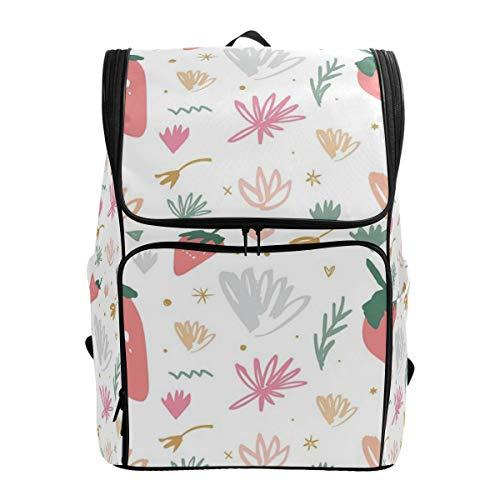 CANCAKA Backpack Vector Jpg Pattern Clipart Isolated Pastel Lightweight Travel Bag Hiking Knapsack College Student School Bookbag Travel Daypack for men women