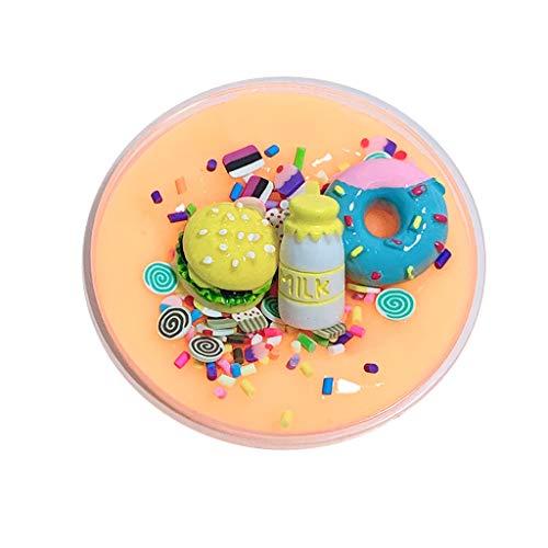 UMFun DIY Burger Char Milk slime Birthday Cake Slime Kids Relief Stress Toys (Yellow) ()