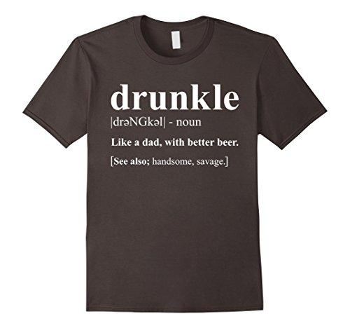 Mens Drunkle - Drunk Uncle Funny Definition T-Shirt XL Asphalt