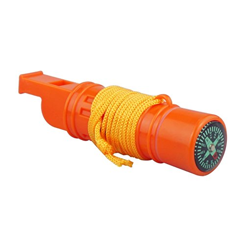 SE CCH5-1 5-IN-1 Survival Whistle in Orange (2) by SE