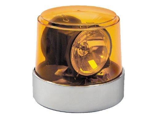 - Wolo (3600-A) Power Beam Halogen Rotating Emergency Warning Light - Amber Lens
