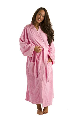 Personalized Men's and Women's Terry Robes, Pink Collor, XX Large by robesale