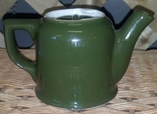 Vintage HALL Forest Green Boston Tea Pot w LID Individual Teapot CLASSIC