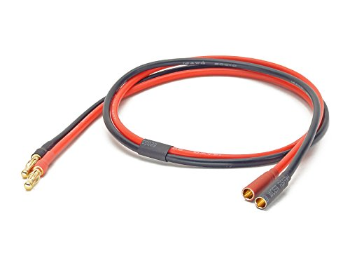 DC Power Cable Extension for Chargers, 2ft / 60cm, 14AWG, 4mm Male to 4mm Female Bullet/Banana Plug by GT Power