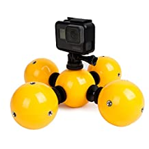 TELESIN Special-Designed Bright-Color Waterproof Float Ball Floaty Bobber For All GoPro Hero 4 Session Black Silver Hero 2 3 3+ 4 5/Polaroid/Xiaomi YI 4K Cameras, Gadget Underwater Accessories-Save Your Camera from Sinking & Help Photograph in Water (Pack of 5)