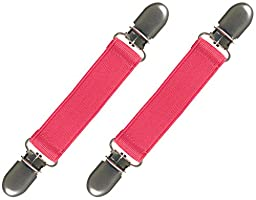 Extra Strong Stainless Steel Elastic Mitten and Glove Clips (Hot Pink) By Zelda Matilda