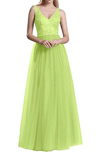 Partykleider Marie Prinzess Ausschnitt Langes Spitze Braut La Gruen A Linie Promkleider Abendkleider Tuell V Rosa Rock Lemon pxqg8Pn
