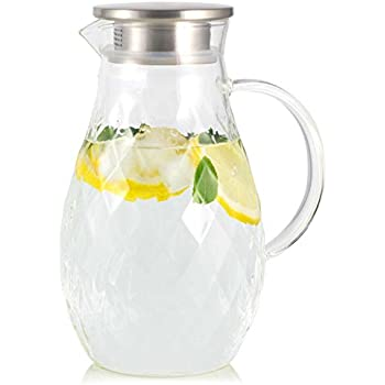 Hiware 68 Ounces Glass Pitcher With Lid